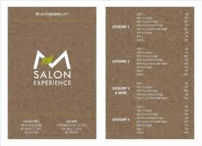 salon menu templates 9 salon menu templates psd vector eps ai illustrator