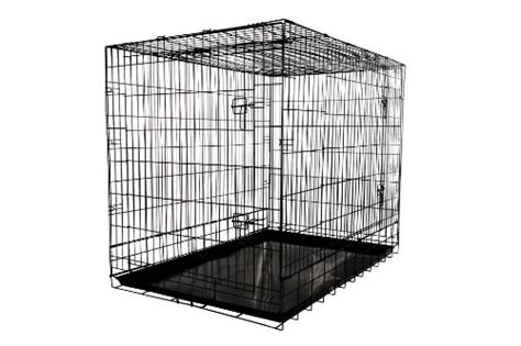large metal crate allmax 3 door folding metal crate with steel tray large black k9 crates