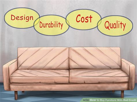 buying a sofa with bad credit how to buy furniture with bad credit 10 steps with pictures