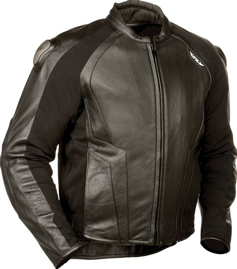 street bike jackets fly street apex leather motorcycle riding jacket black
