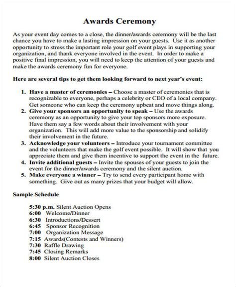 52 Introduction Speech Sles Award Speech Template