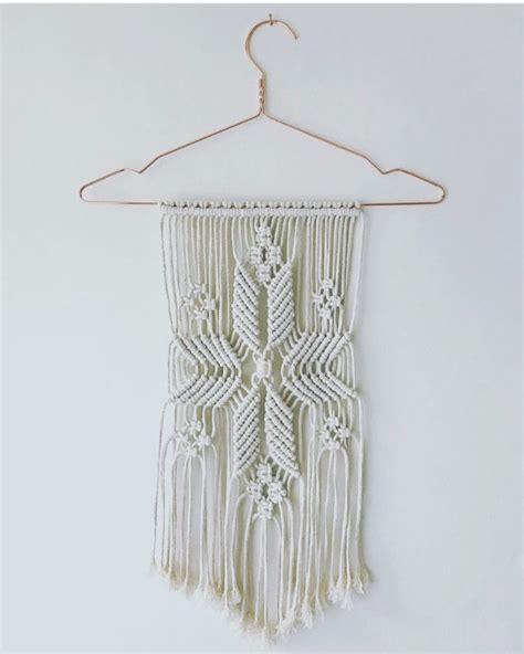 Macrame Wall Hanger - small macrame wall hanging by ohsohygge on etsy