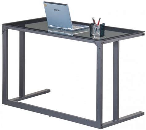 Smoked Glass Desk by Buy Alphason Air Black Smoked Glass Desk Aw53385