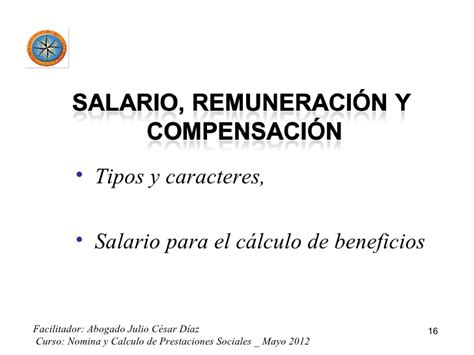 nomina y calculo de prestaciones sociales nomina y calculo de prestaciones sociales