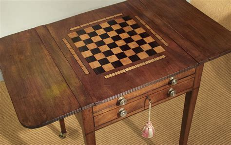 antique regency games table antique backgammon table