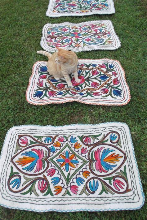 wool felt rugs small pretty felt wool kashmiri embroidered namda kilim rug mat wool felt and