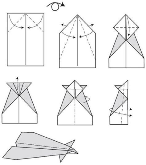 conrad paper airplane step by step paper