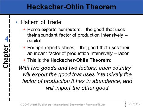 pattern of trade definition economics 4 1 heckscher ohlin model 2 effects of trade on factor