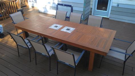 Cedar Patio Table White Large Modified Outdoor Cedar Table Diy Projects