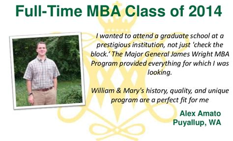 Best Part Time Mba Programs In Virginia by Why We Chose W M