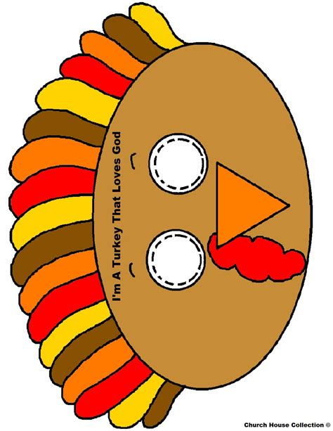 Printable Turkey Face Mask | church house collection blog turkey face mask