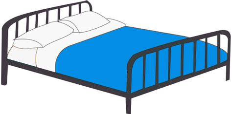clip art bed double bed clipart