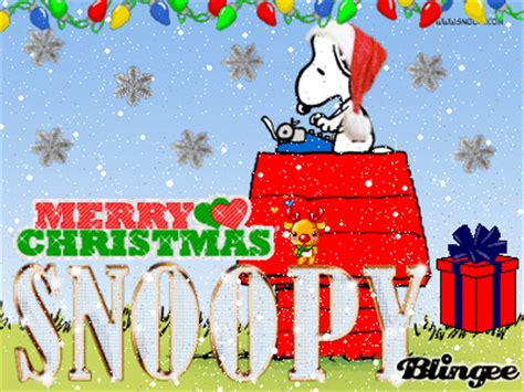 merry christmas snoopy picture  blingeecom
