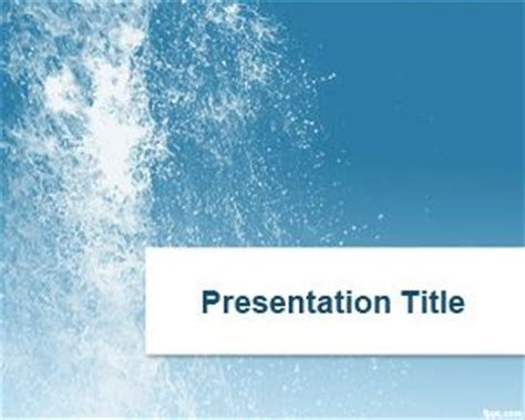 Water Flow Powerpoint Template Microsoft Powerpoint Templates Water