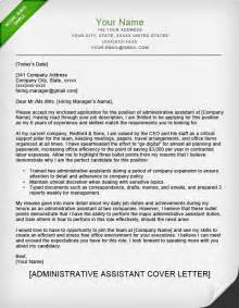 Cover Letter Exles For Admin Assistant by Administrative Assistant Executive Assistant Cover Letter Sles Resume Genius