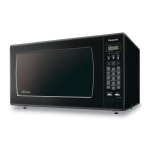 panasonic 2 2 cu ft countertop microwave in black nn