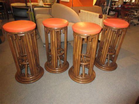 Tiki Bar Stools by Bamboo Tiki Style Bar Stools Set Of Four At 1stdibs