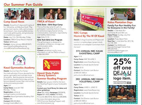 Kauai Summer Fun Guide Kauai Family Magazine | kauai summer fun guide
