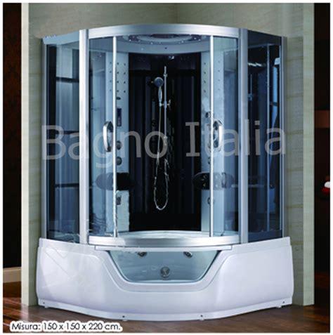 bagno con vasca angolare box doccia idromassaggio box doccia 150x150 cabina