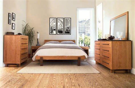 american beds modern platform bed in solid hardwood with finish