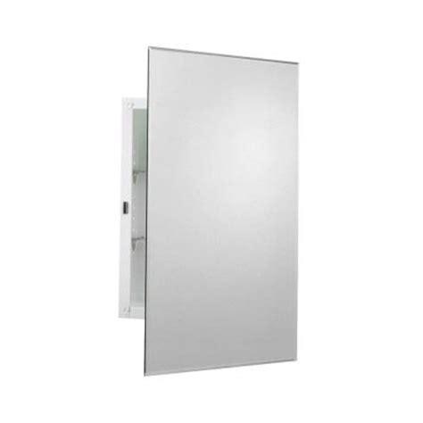 frameless recessed medicine cabinet zenith 16 in x 24 in frameless mirrored swing door