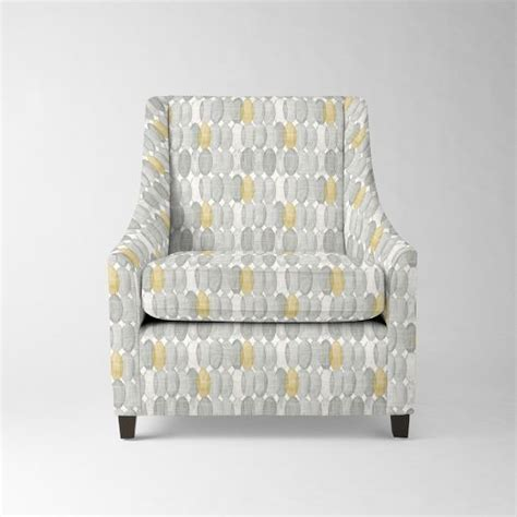 Sweep Armchair by Sweep Armchair Prints West Elm 749 Guest Room Gray