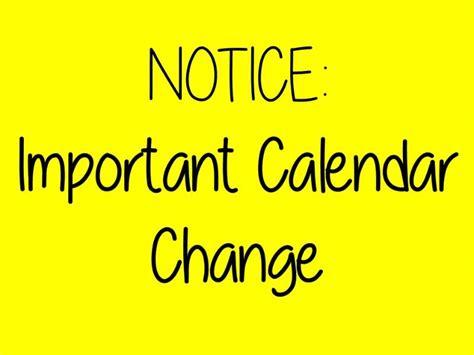 Was The Calendar Changed St Joseph Catholic School School Calendar Change