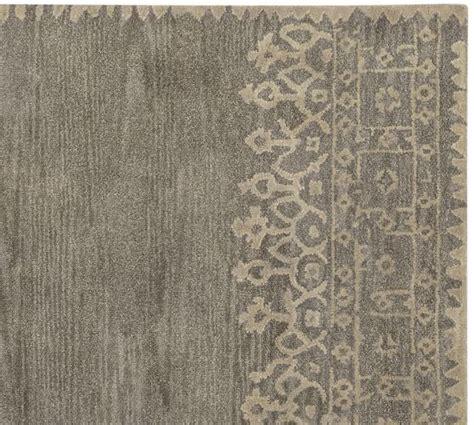 desa rug pottery barn desa bordered wool rug gray pottery barn susan wool gray and pottery