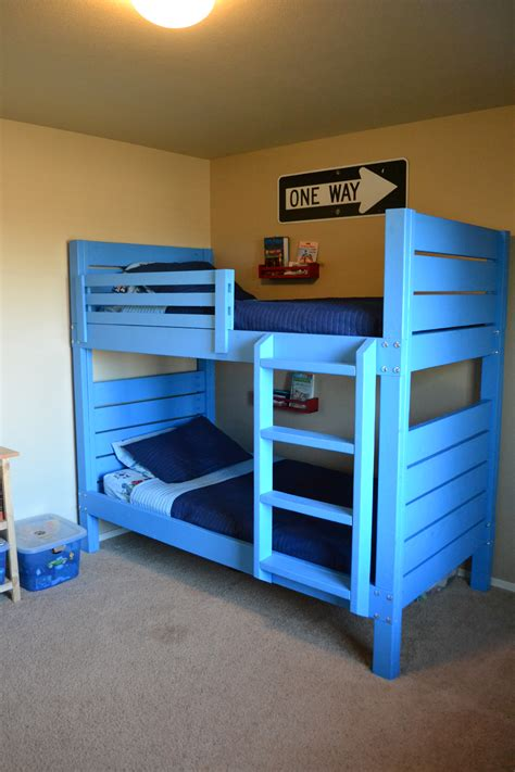 diy bunk bed ladder ana white side street bunk beds with modified ladder