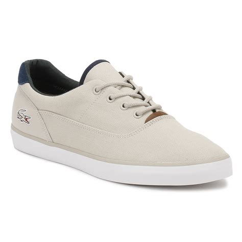 Ransel Lacoste Classic 115 1 lacoste mens light grey or navy blue trainers jouer 317 1 canvas casual shoes ebay