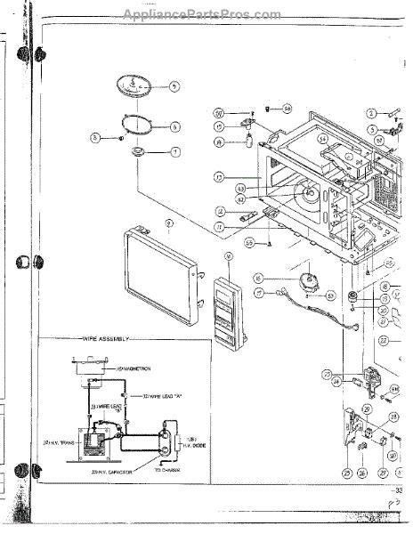 samsung microwave parts diagram samsung 6463 213 610 guide appliancepartspros