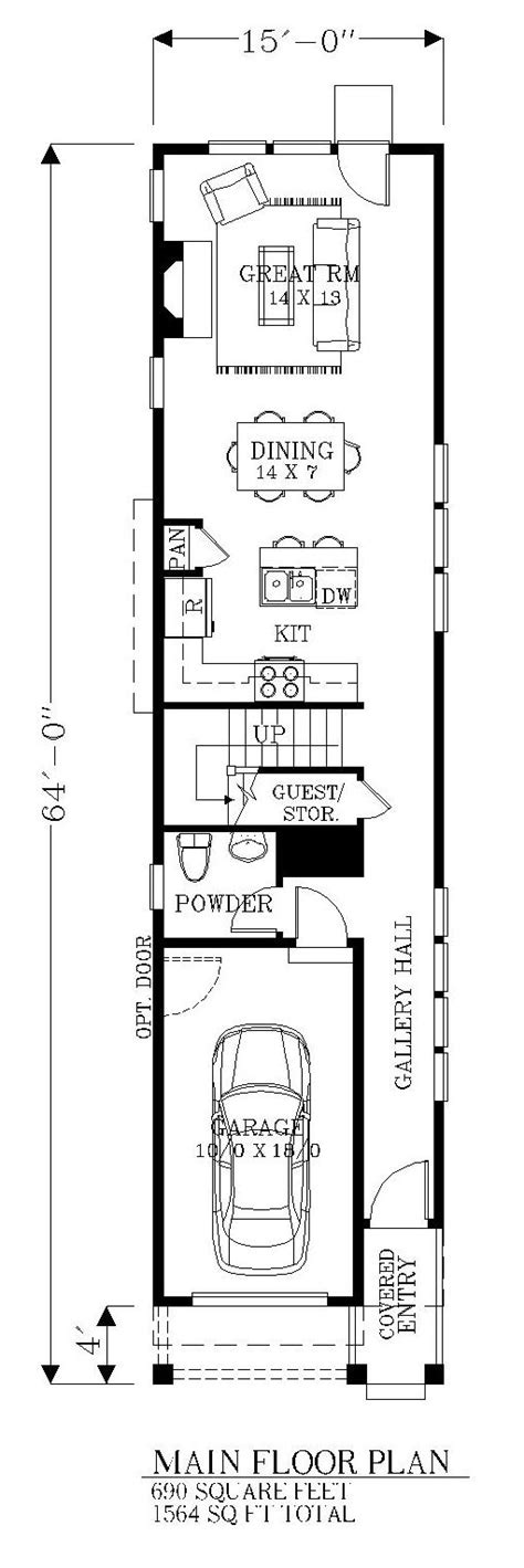 narrow width house plans the 25 best narrow house plans ideas on pinterest