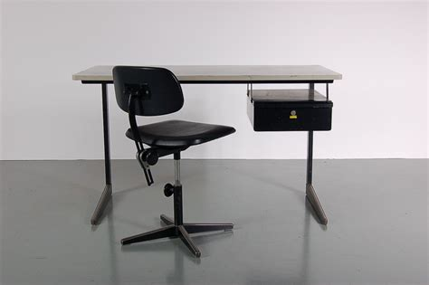 black metal desk chair black metal desk and chair set by friso kramer for ahrend
