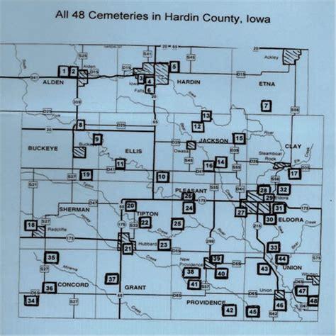 Hardin County Records Hardin County Ia Large Cemetery Map