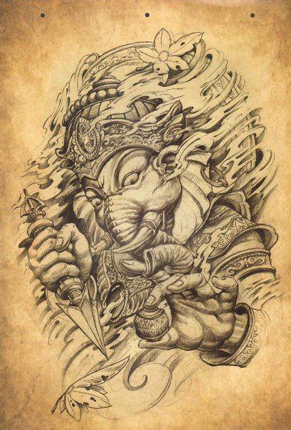 tattoo th n voi ganesha 25 melhores ideias de tatuagens hindu no pinterest