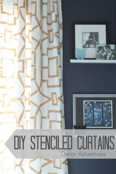 diy stenciled curtains hit me with your best shot 18 onekriegerchick