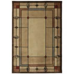 Lowes Mohawk Area Rugs Shop Mohawk Home Leaf Point Multi Rectangular Brown Geometric Woven Area Rug Common 5 Ft X 8