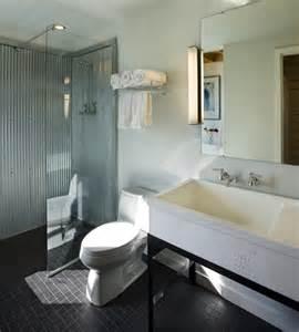 steel shower baths corrugated metal bathroom
