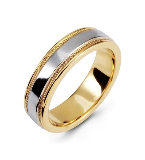 Wedding Rings Yellow And White Gold by Modern Two Tone Ring 14k White Yellow Gold Wedding Band