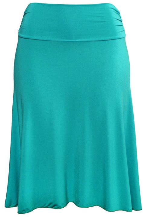 stretch is comfort s knee length flowy skirt