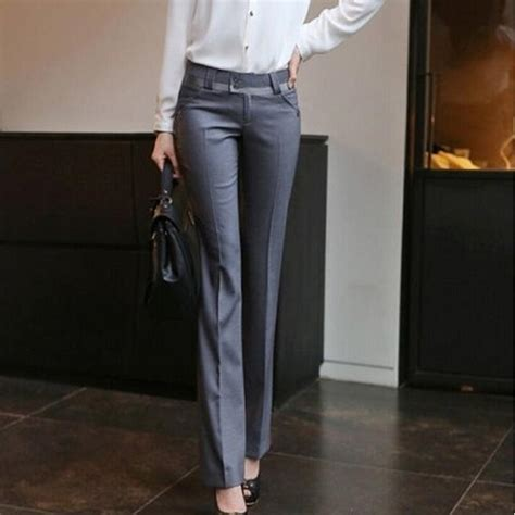 women spring summer straight pants slim ol