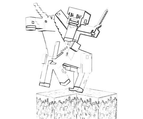 another minecraft coloring pages coloring kids