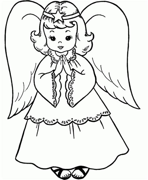 angel coloring pages pdf christmas angel holding a small grass coloring for kids