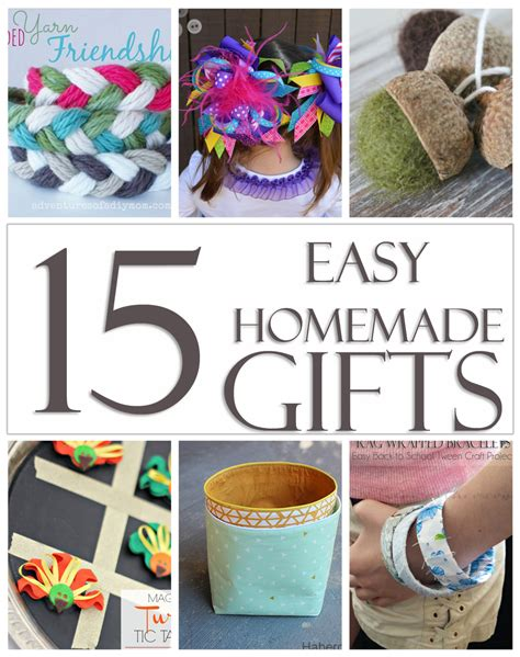Easy To Make Handmade Gifts - 15 easy gifts kleinworth co