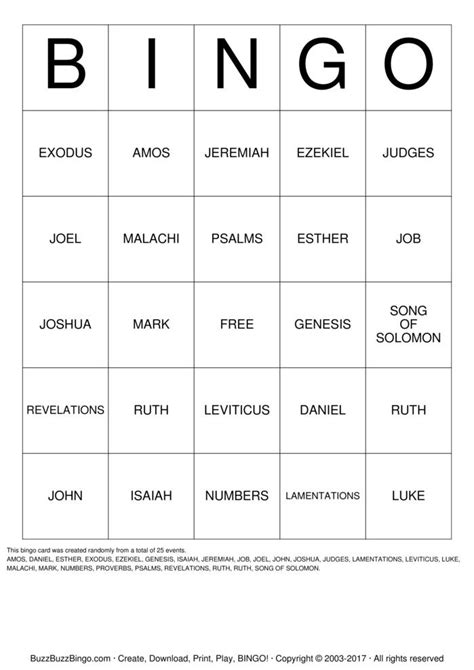 BIBLE Bingo Cards to Download, Print and Customize!