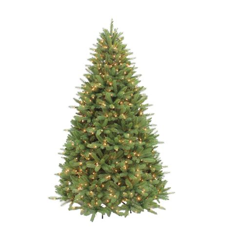 home depot 9 foot douglas fir artificial treee ge 7 5 ft pre lit led indoor just cut deluxe aspen fir artificial tree with color