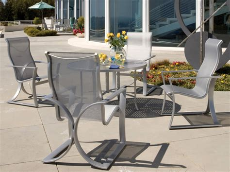 Tropitone Patio Furniture Prices by Reflection Sling Dining Patio Furniture Tropitone