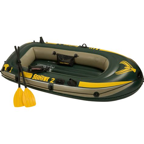 2 person boat intex inflatable seahawk 2 two person boat with oars and