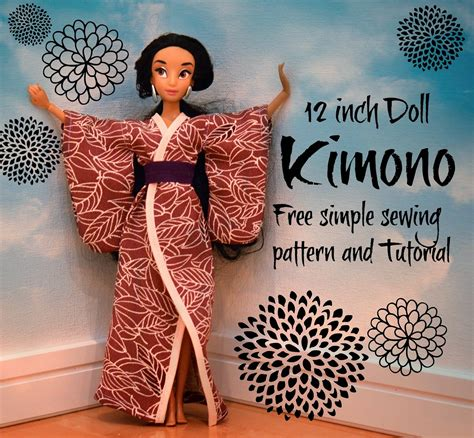 kimono pattern for barbie beth being crafty printable doll kimono pattern and tutorial