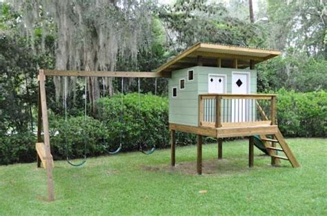playhouse swing set combo playhouse swing set combo plans woodworking projects plans